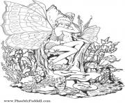 Printable fantasy fairies coloring pages