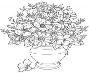 Printable flowers adults coloring pages