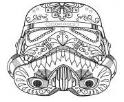 Printable starwars skull sugar adult coloring pages