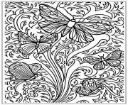Printable Free Printable Adult Butterfly Sheet coloring pages
