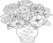 adult flower difficult coloring pages