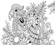 Printable adult summer flower color coloring pages