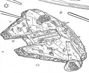 Print star wars ships for kids coloring pages