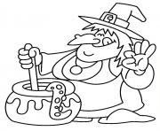 witch halloween colouring pages for kids printables865a