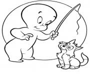 Print casper ghost s for kids with cat42d9 coloring pages