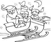 Printable kids santa 373e coloring pages