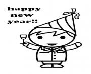 Print coloring pages for kids new year celebrate8799 coloring pages
