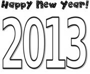 Print coloring pages for kids new year 2013fc1c coloring pages