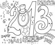Print coloring pages for kids new year 2013 free5321 coloring pages