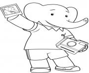 Print babar cartoon s for kids633e coloring pages