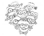 Print kids minions despicable me s0085 coloring pages