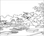 Print for kids tom and jerry picniccc28 coloring pages