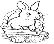 coloring pages for kids rabbit and easter eggs7734