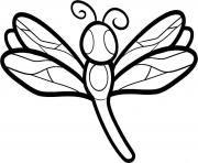 Print dragonfly animal  for kids1abc coloring pages