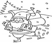 Print happy santa claus delivering presents christmas s for kidscfe7 coloring pages