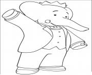Print king babar cartoon s for kids860c coloring pages