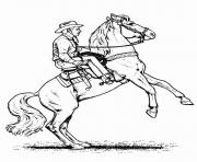Print cowboy horse s kidsba01 coloring pages