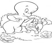Print kitte and casper ghost s for kidse468 coloring pages