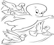 Print birds and casper ghost s for kidsa7e2 coloring pages
