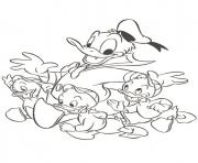Print donald duck and the kids disney s648f coloring pages