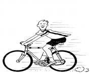 Print bicycle  for kidsed43 coloring pages