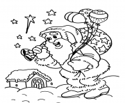 Print christmas s for kids santa delivering giftsc576 coloring pages