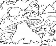 Print kids easter s bunny hunting eggs8667 coloring pages