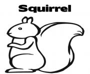 Print kids squirrel s2ff8 coloring pages