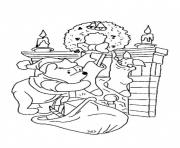 Print winnie the pooh and piglet christmas  for kids54c9 coloring pages