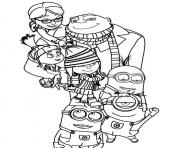 Print kids cartoon despicable me s3695 coloring pages