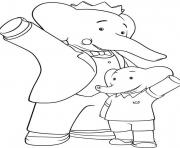 Print the adventure of babar cartoon s for kids835c coloring pages