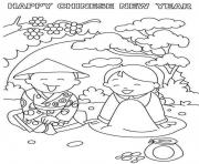 Print kids chinese new year safa8 coloring pages