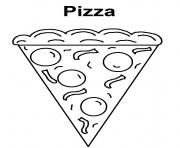 Print pizza s of food for kids6469 coloring pages