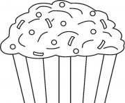 Print kids cupcake 2d01 coloring pages