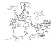 Print snowman and birds s for kids free83c3 coloring pages