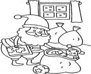 Print christmas s for kids santa claus preparing presentsf646 coloring pages