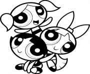 Print powerpuff kids cartoon girl s3664 coloring pages