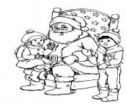 Print kids and santa christmas s printable10a63 coloring pages