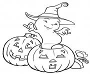 Print halloween ghost and pumpkin s kidseade coloring pages
