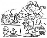 Print elves and santa christmas s for kids4a74 coloring pages