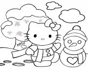 Print hello kitty s for kids xmas041d coloring pages