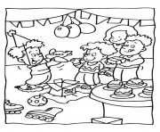 Print kids party free birthday see99 coloring pages