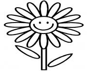 Print daisy flower s for kids3d11 coloring pages