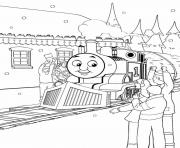 Print thomas tank engine winter s for kidsf94b coloring pages