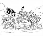 Print the kids in halloween disneys36be coloring pages
