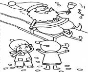 Print free s for christmas santa and kidse3f4 coloring pages
