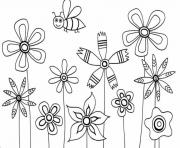 Print flowers s for kids89b0 coloring pages