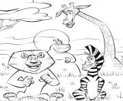 coloring pages for kids madagascar 2 cartoon0aa1
