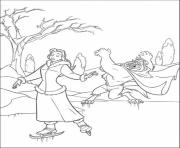 Print play ice skating beauty and the beast winter s for kids164e coloring pages