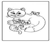 Print big momma cat and kids 4e05 coloring pages
